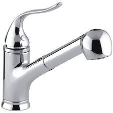 kohler pull out kitchen faucet steel kohler pull out kitchen faucet wall mount two handle side