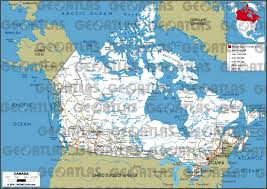 Alaska Road Map by Geoatlas Countries Canada Map City Illustrator Fully