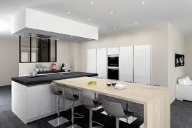 cuisine avec table modele de table de cuisine en bois pied de table basse design
