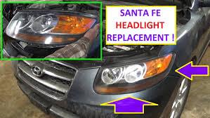 2011 hyundai sonata headlight bulb headlight removal and replacement on hyundai santa fe 2006 2007