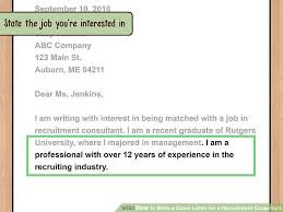 Sending Resume To Recruiter How To Write A Cover Letter For A Recruitment Consultant With