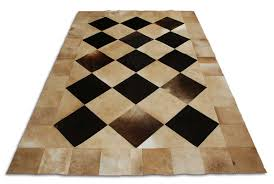 Black And Beige Area Rugs Beige And Black Leather Area Rug Squares Design By Shine In