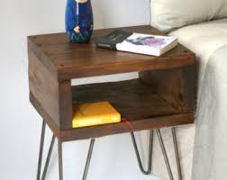 Bed Side Desk Bedside Table Etsy