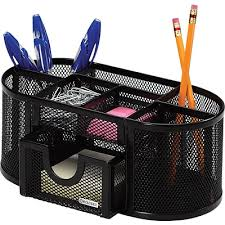 Mesh Desk Organizer Rolodex Black Mesh Pencil And Pencil Cup Quill