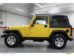 solar yellow 2004 jeep wrangler rubicon 4x4 exterior photo