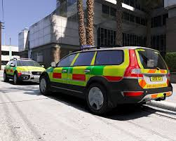 volvo co fire ambulance co responder skin for volvo xc70 gta5 mods com