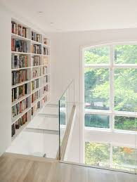 White Engineered Wood Flooring Glass Barrister Bookcases Hall Contemporary With White Oak