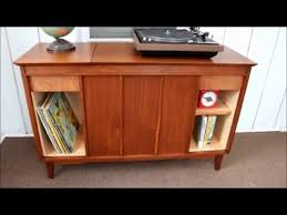 Upcycled Stereo Cabinet Vintage Stereo Cabinet Refinish Repurpose Youtube