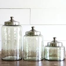 hammered lid glass canister set of 3 glass canisters canister