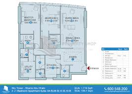 floor plan of sky tower al reem island