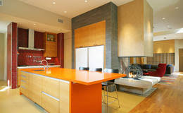 Bright Colored Kitchens - kitchen plan n design