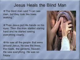 Blind Man At Bethsaida Jesus Heals A Blind Man At Bethsaida U201ci Am The Light Of The World