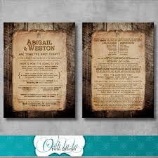 rustic wedding programs rustic wedding program wording customizable diy