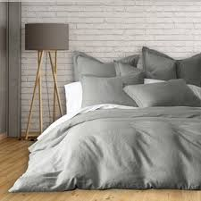 French Bed Linens Duvet Covers Gray U0026 Silver Linen Duvet Cover Sets You U0027ll Love Wayfair
