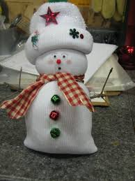 sock snowman colored socks filled with rice or white socks