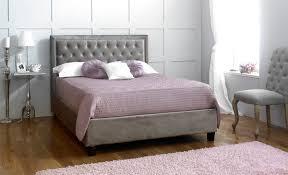 Velvet Bed Frame Beds Rhea 5ft Kingsize Fabric Bedframe Silver Velvet