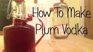 how to make plum vodka youtube