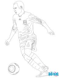 andres iniesta coloring page coloring sheet for all soccer lovers