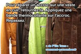 recoudre canapé cuir un accroc sur votre cuir une astuce pour réparer votre blouson ou