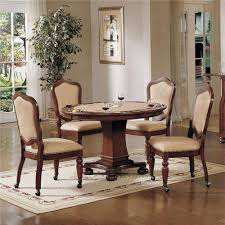 Lane Dining Room Furniture by Cramco Inc Timber Lane Faran Round Game Table And Caster Chair