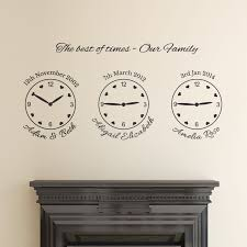 our family wall sticker name date and time wall decal family