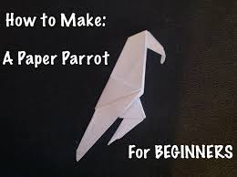 how to make a paper parrot easy origami for beginners youtube