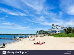 Connecticut beaches images Beach in the historic old town of stonington connecticut usa jpg
