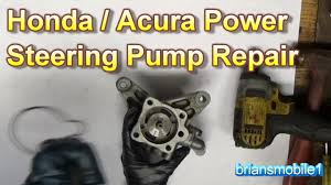 honda acura power steering pump repair youtube