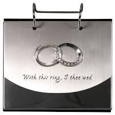 malden wedding rings silver flip album hold 4 x 6 photos