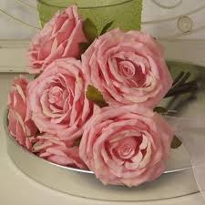 artificial roses roses posy vintage pink r063 m4