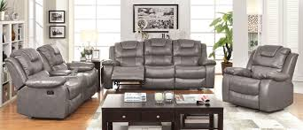 Reclining Sofa With Center Console Grandolf Reclining Sofa Set In Bonded Leather Cm6813 0 00