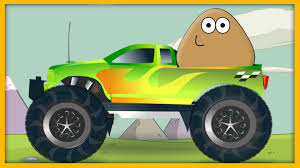 monster truck games videos for kids pou monster truck games with nursery rhymes songs for children