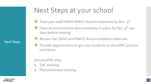 cmas parcc accommodations ppt download