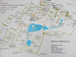 Cherry Blossom Map Map Of Eikando Zenrin Ji Grounds And Temples Tokyo U0026 Kyoto