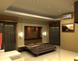 appealing image of bedroom decoration using round flare white wall