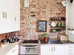 kitchen with brick backsplash kitchen backsplash rustic backsplash exposed brick tiles thin