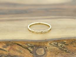 deco wedding band 14k yellow gold diamond cut deco wedding band ring the bling