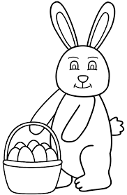 easter bunny and eggs coloring pages u2013 happy easter 2017