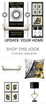 update your home with black and gold