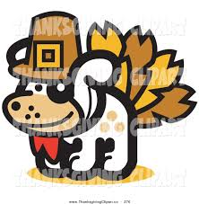 silly thanksgiving silly dog clipart 38