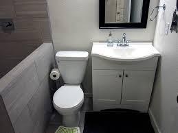 Basement Bathroom Ideas Pictures Simple Basement Bathroom Ideas With Wood Single Vanity Cabinet