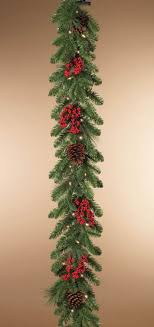 6 foot artificial mixed pine garland with snow crystals