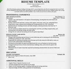 Housekeeping Resume Templates Cleaner Resume Template Resume Tips For Residential House Cleaner
