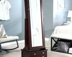 White Jewelry Armoire Mirror Jewelry Armoire Mirror Standing Generisco Floor Cabinet