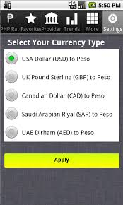 philippines peso exchange rate android apps on google play