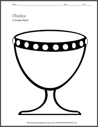 chalice coloring page for kids student handouts