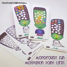 Halloween Free Printable Cards Monstrously Fun Halloween Point Cards And Bookmarks