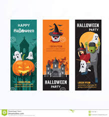 halloween day party banner template design stock vector image