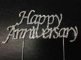 rhinestone cake toppers rhinestone cake topper happy anniversary
