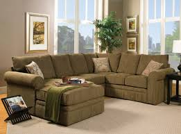 Small Brown Sectional Sofa Small Gray And White Themed Living Room Decorating Ideas With